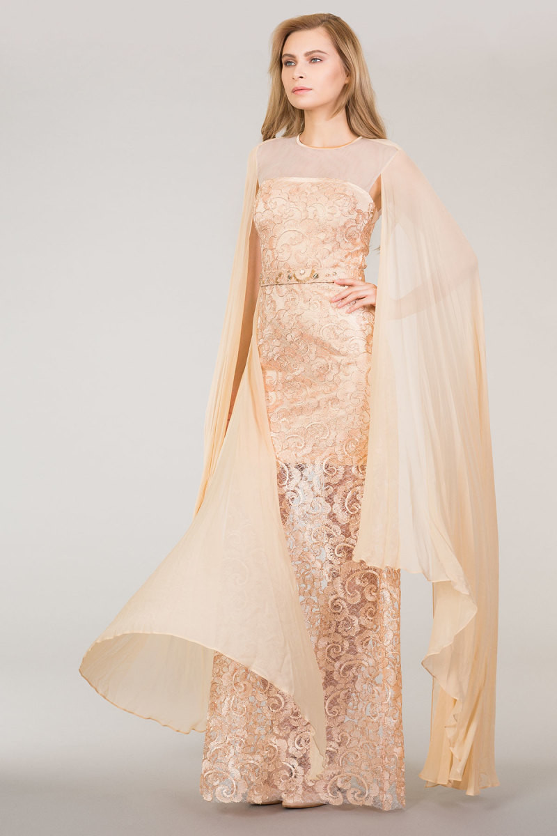 GIZIA - Lace Dress With Belt and Tulle Detail