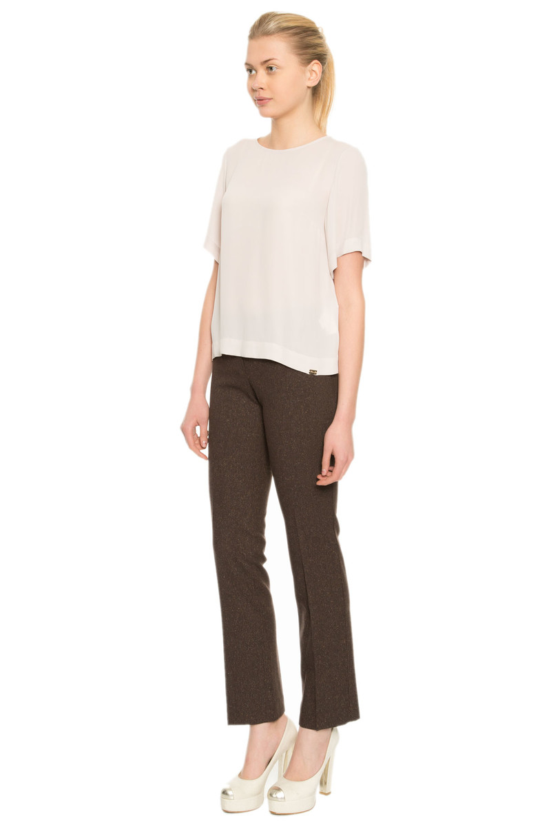 GIZIA CASUAL - Trousers In Brown