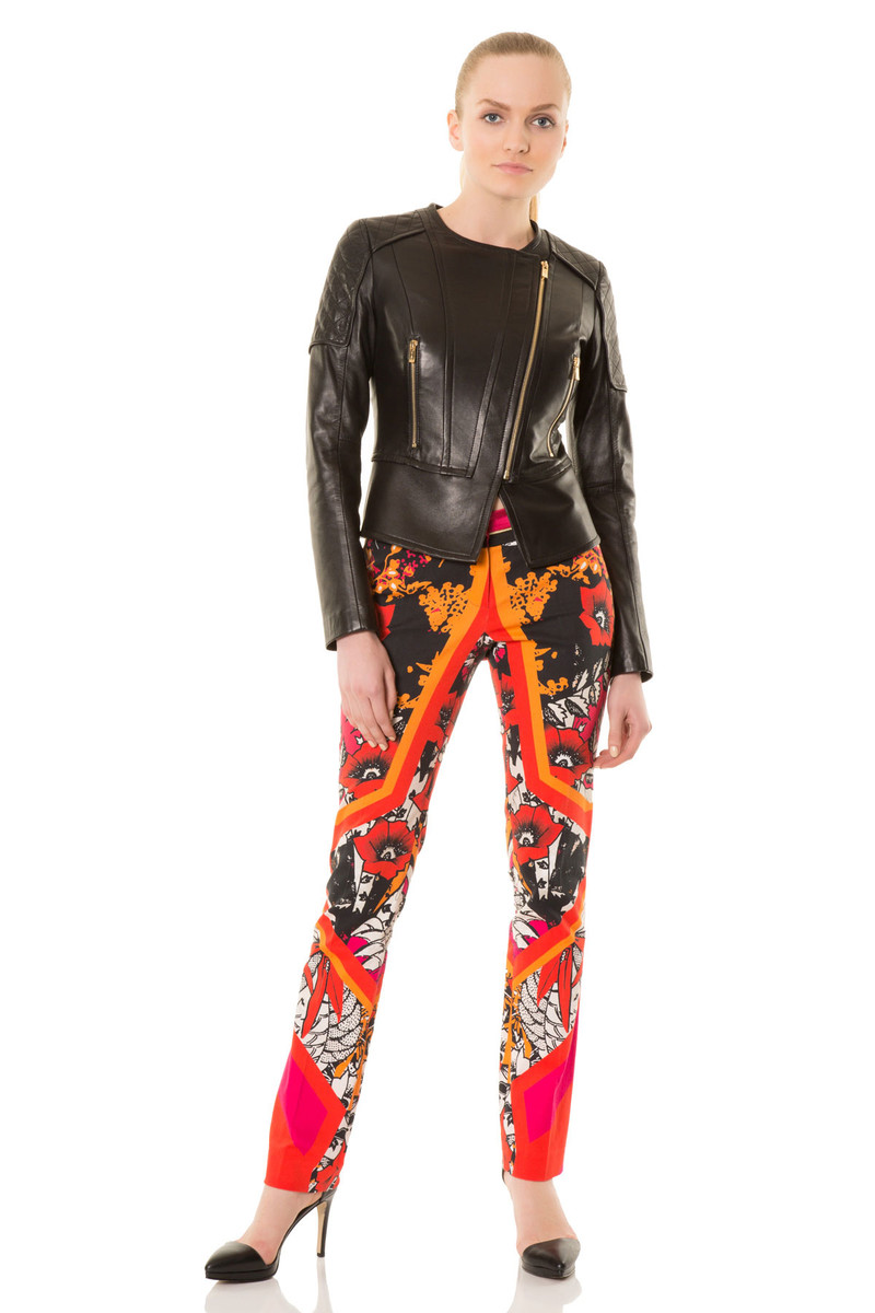 GIZIA - Trousers In Floral Print