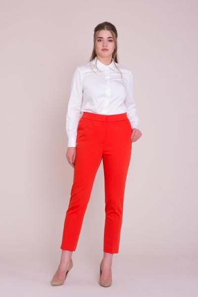 GIZIA - Boru Paça Kırmızı Pantolon
