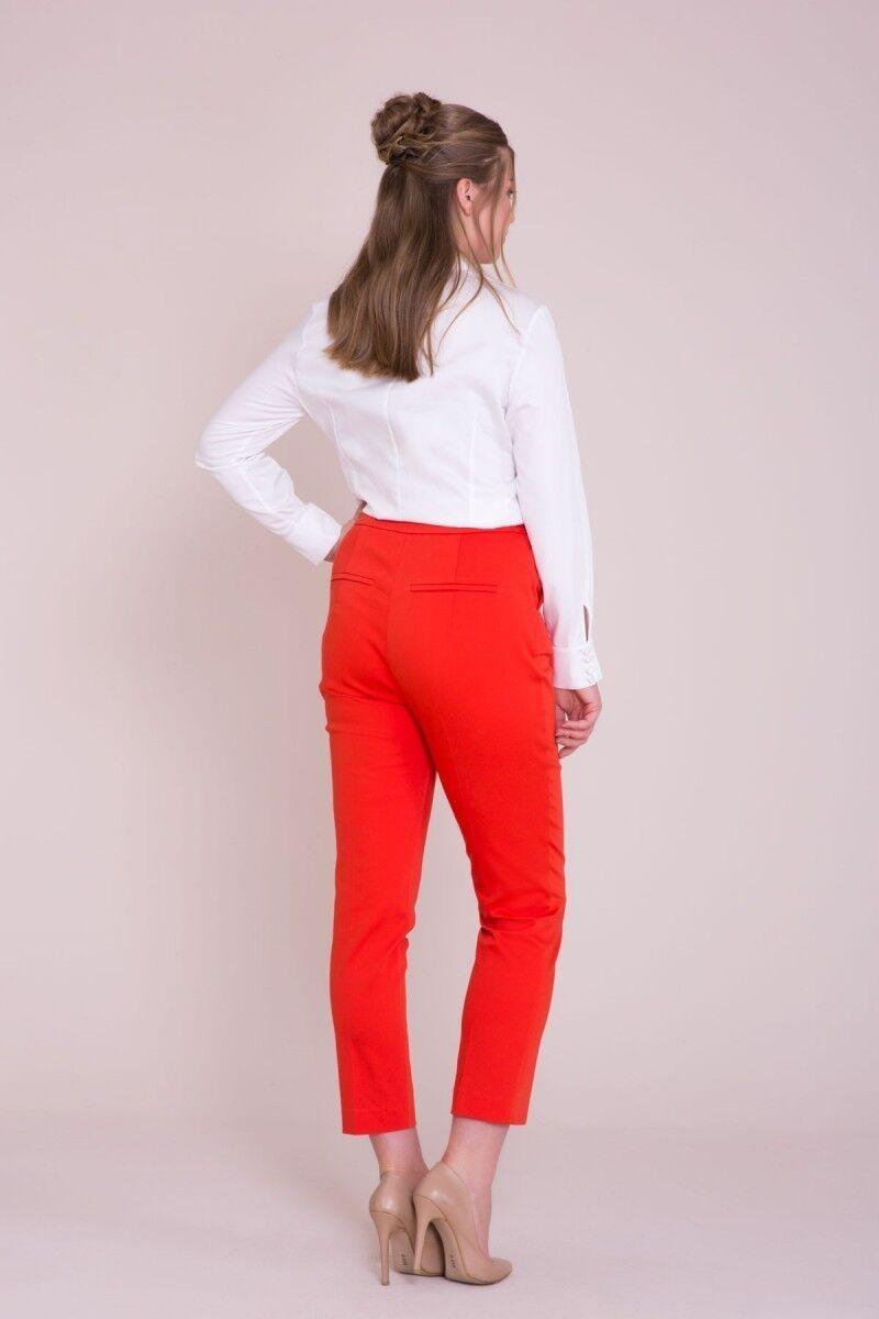Boru Paça Kırmızı Pantolon