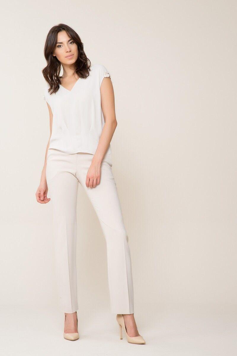 GIZIA - Açık Bej Kumaş Pantolon
