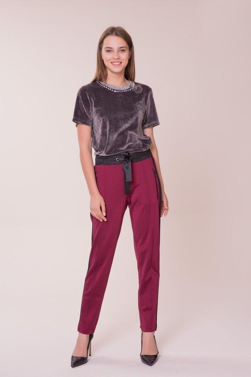 GIZIA - Siyah Şerit Detaylı Spor Pantolon