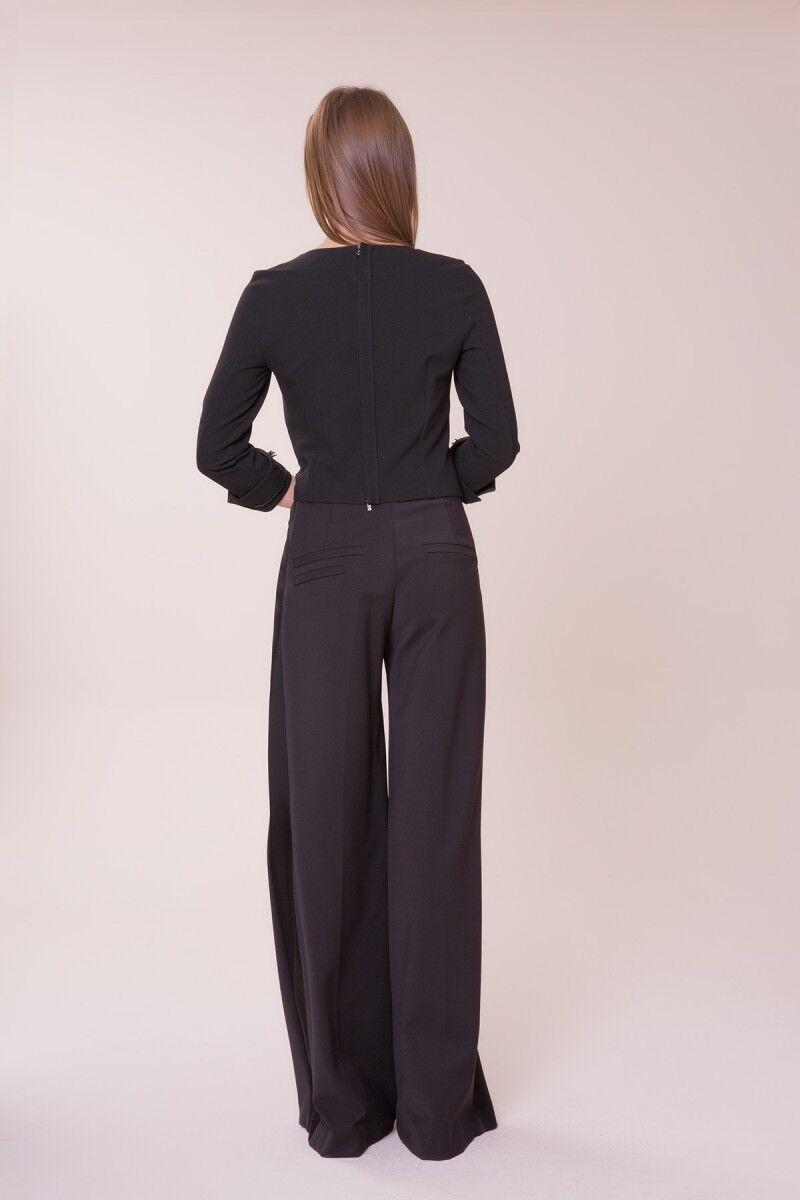 Bol Paça Siyah Pantolon