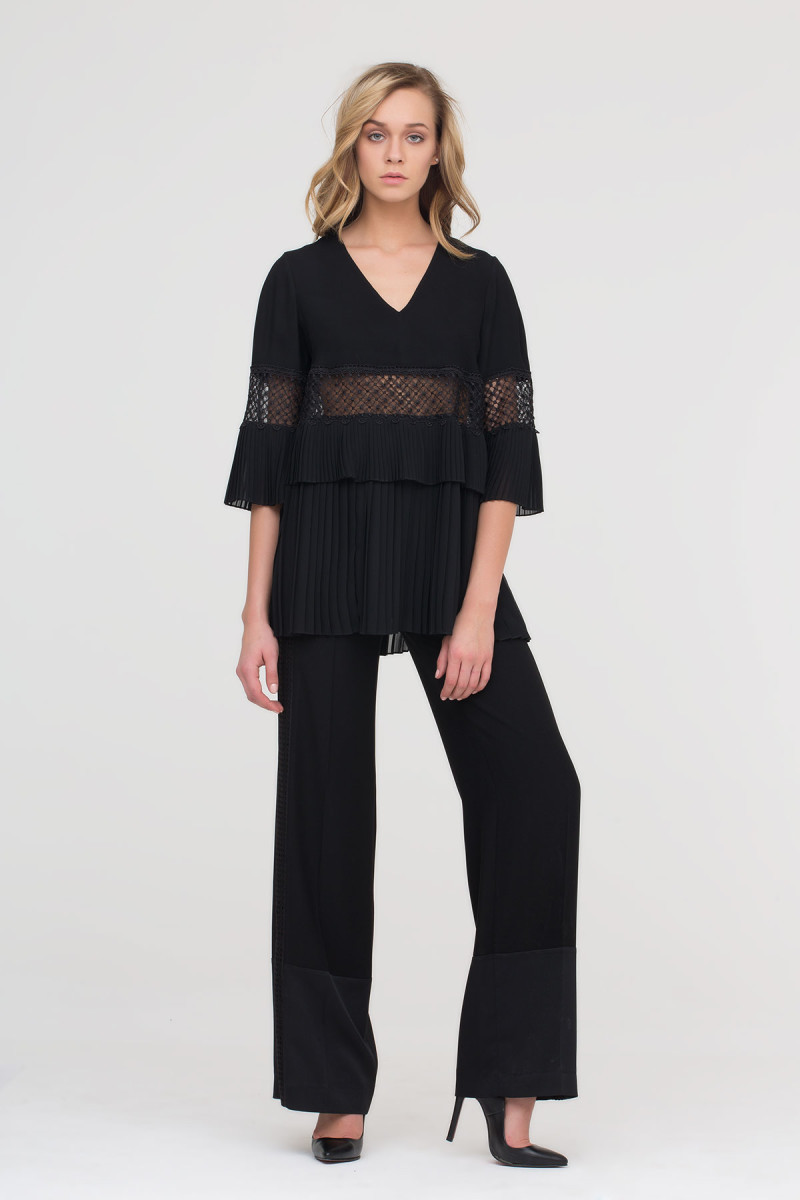 GIZIA - Side Lace Stripe Trousers