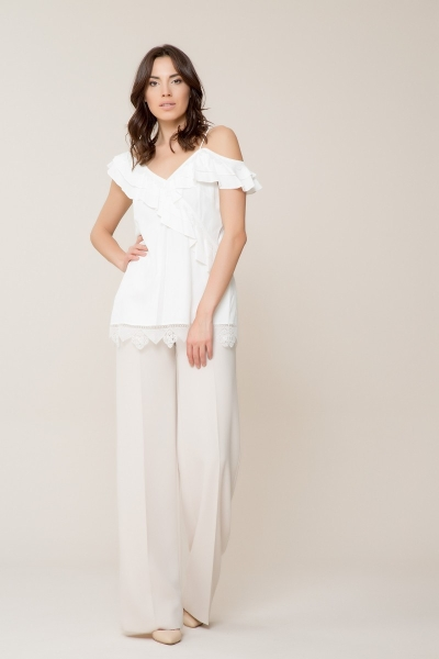 GIZIA - Güpür Detaylı Askılı Bluz