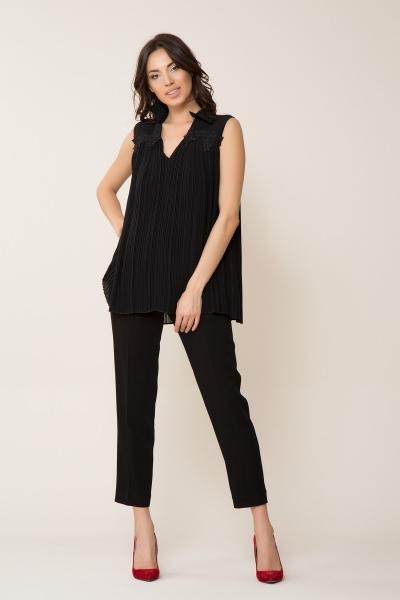 GIZIA - Siyah Pilise Gömlek
