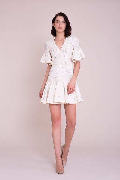 GIZIA - Aplike Detaylı Mini Elbise