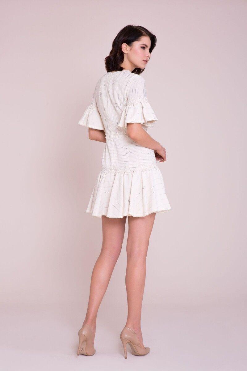 Aplike Detaylı Mini Elbise