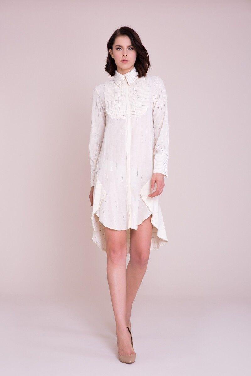 GIZIA - Önü Kısa Arkası Uzun Gömlek Elbise