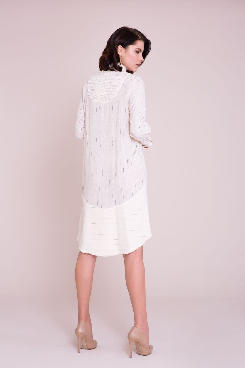 Önü Kısa Arkası Uzun Gömlek Elbise
