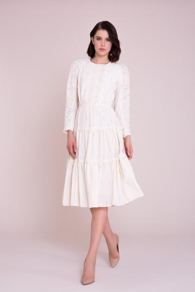 GIZIA - Aplike Detaylı Midi Elbise