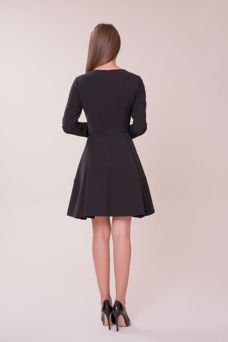 Taş Detaylı Siyah Mini Elbise