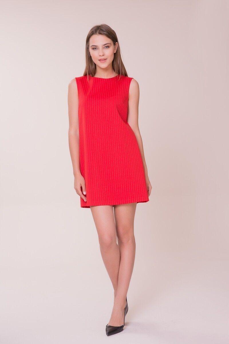 GIZIA - Şerit Detaylı Kırmızı Mini Elbise