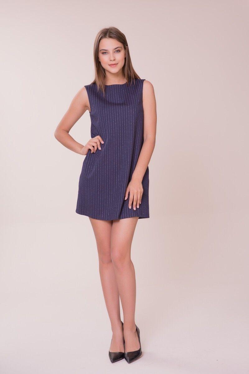 GIZIA - Çizgi Detaylı Mini Elbise