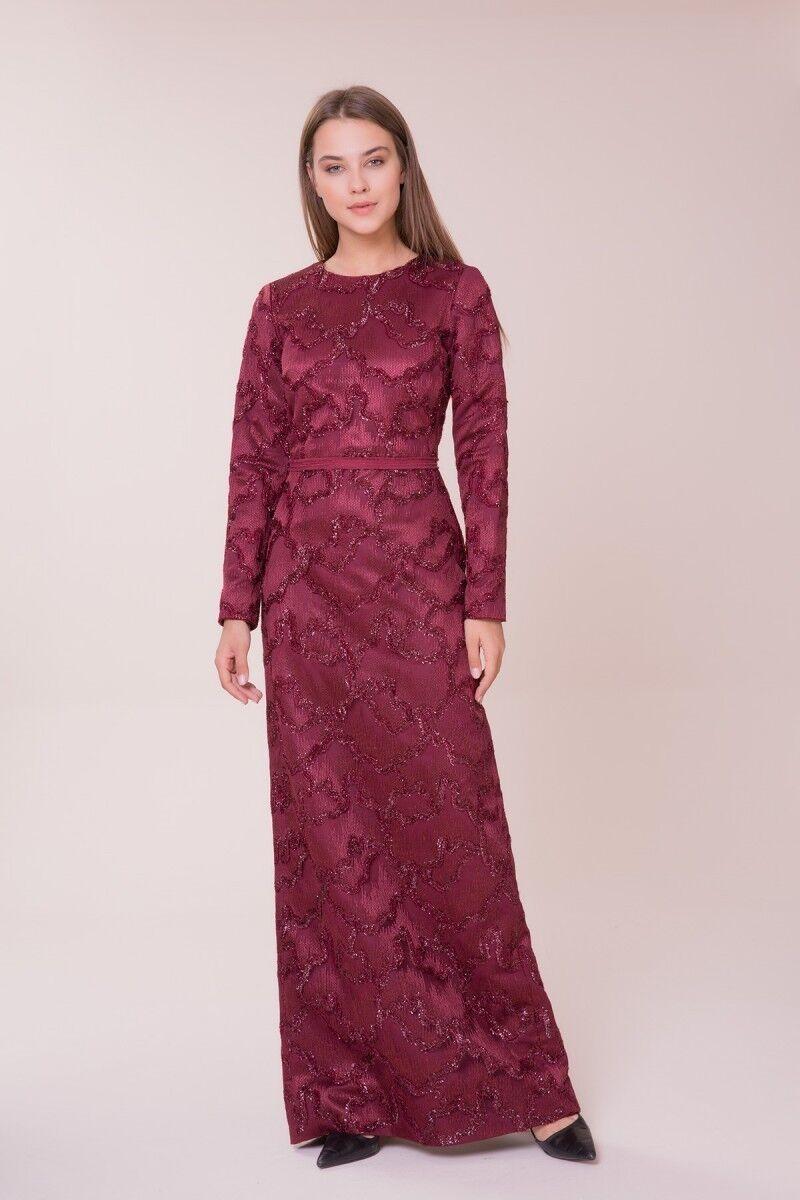 GIZIA - Bordo Uzun Elbise