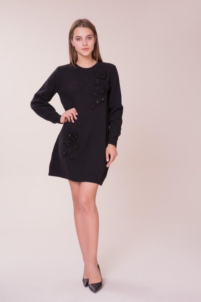 GIZIA - Siyah Triko Elbise