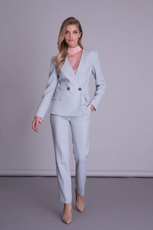 Açık Mavi Kumaş Ceket