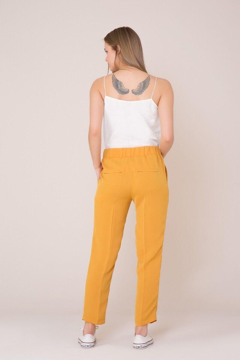 İp Bağcık Detaylı Safran Rengi Spor Pantolon