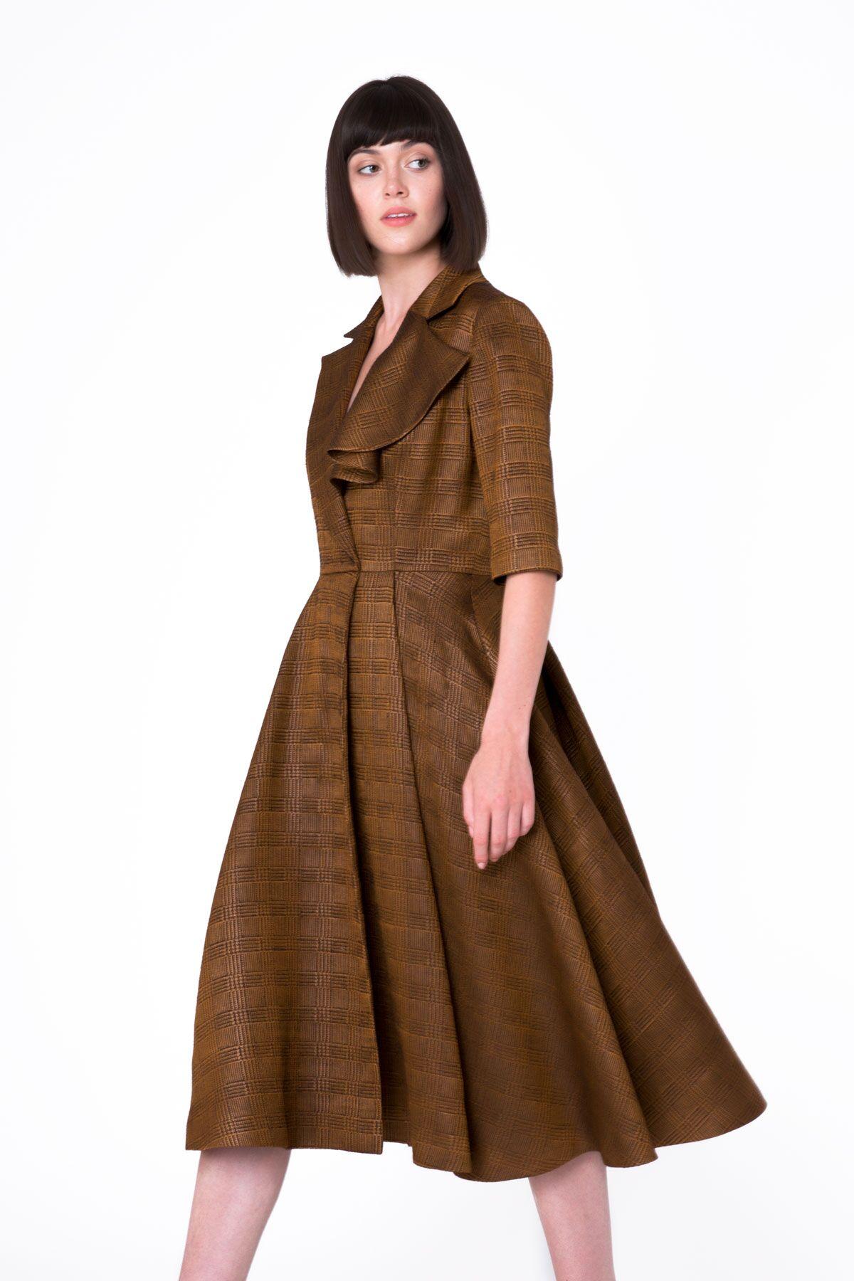 Asymmetrical Neck Detail Shiny Midi Dress