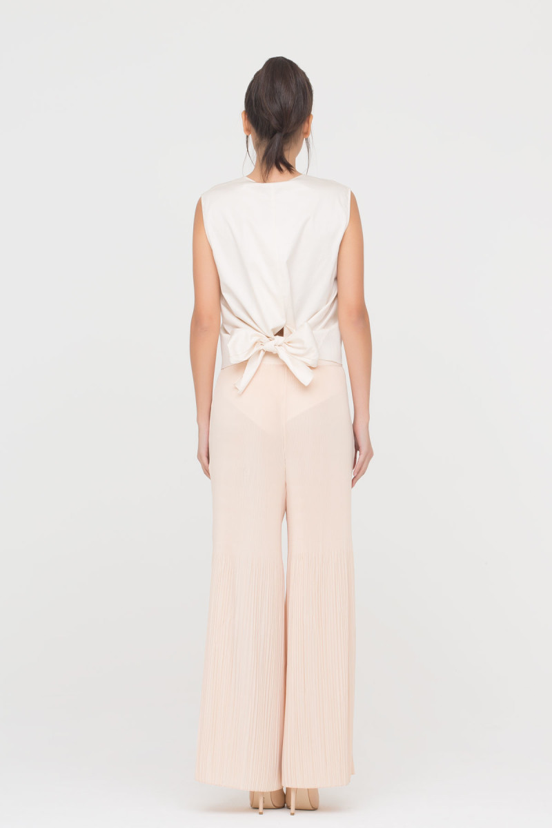 GIZIA CASUAL - Pleated Wide Leg Trousers