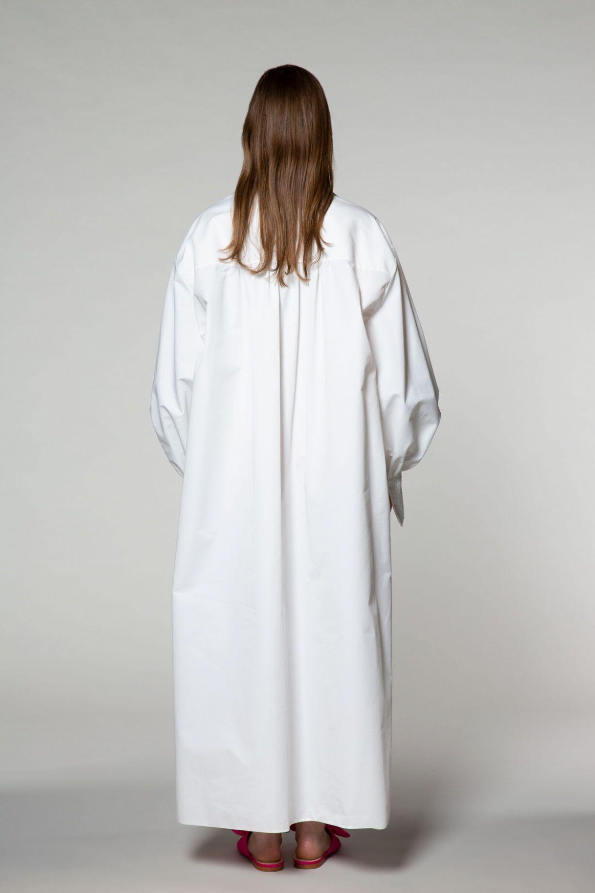 Balon Kol Uzun Gömlek Elbise