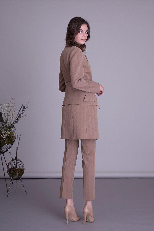 Bej Uzun Ceket