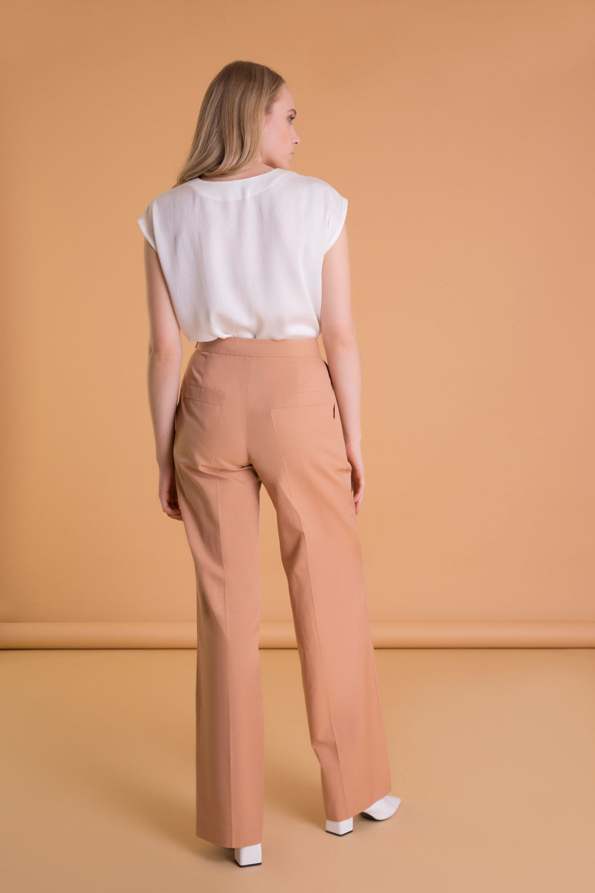 Belt Detailed Wide Cut Pleated Pants