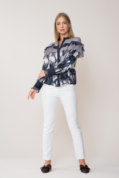 GIZIA CASUAL - Beyaz Pantolon