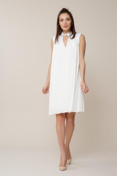 GIZIA - Beyaz Pilise Elbise