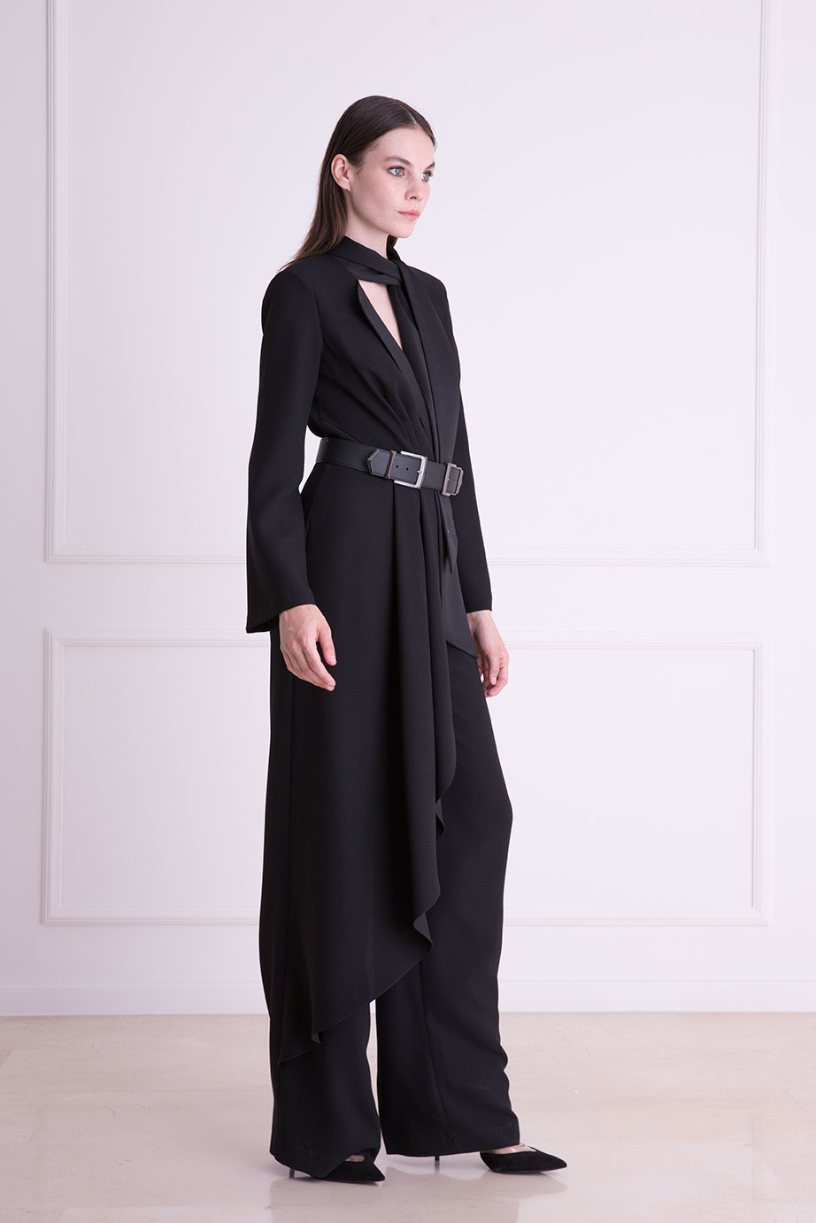 Black Overall with Belt