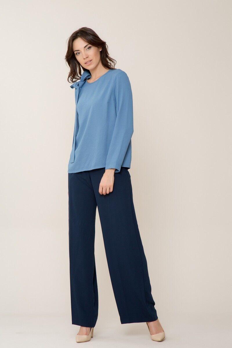 GIZIA CASUAL - Uzun Kollu Mavi Bluz