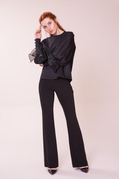 GIZIA CASUAL - Taş Detaylı Siyah Bluz