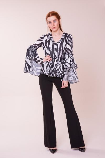 GIZIA CASUAL - Bel Detaylı V Yaka Bluz