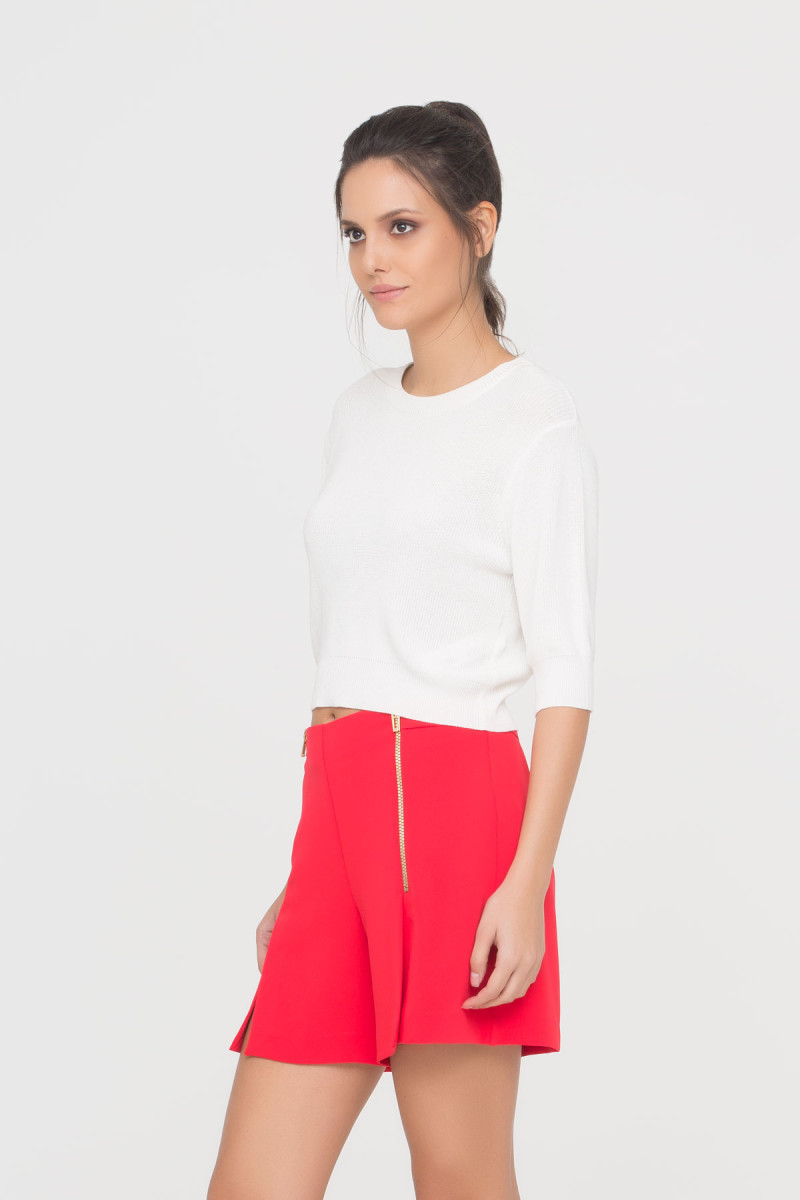 GIZIA CASUAL - Knit Jumper In Ecru