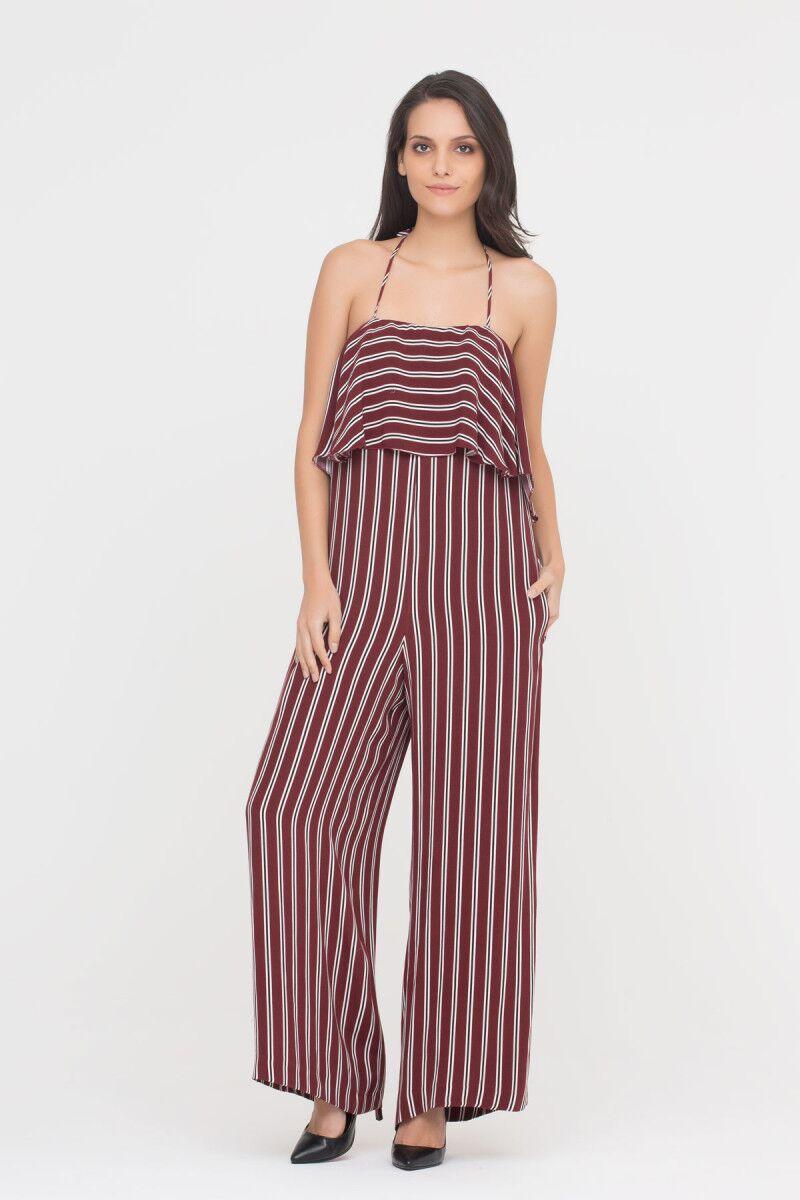 Cami Jumpsuit In Stripes