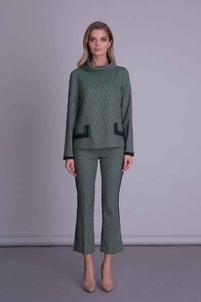 GIZIA CASUAL - Capri Model Yeşil Kadın Pantolon
