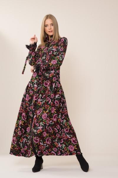 GIZIA CASUAL - Çiçek Desenli Uzun Elbise