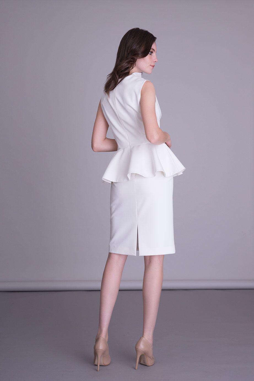 Classic Cut Ecru Skirt