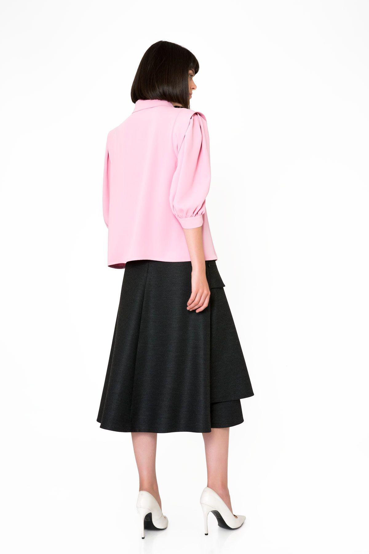 Collar Applique Detailed Pink Shirt