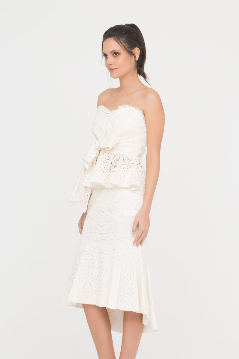 GIZIA CASUAL - Lace Dress In Ecru