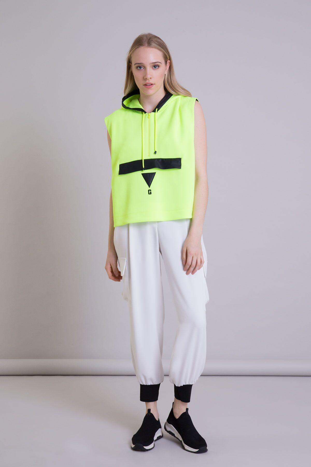 Ecru Jogger Pants with Cargo Pocket