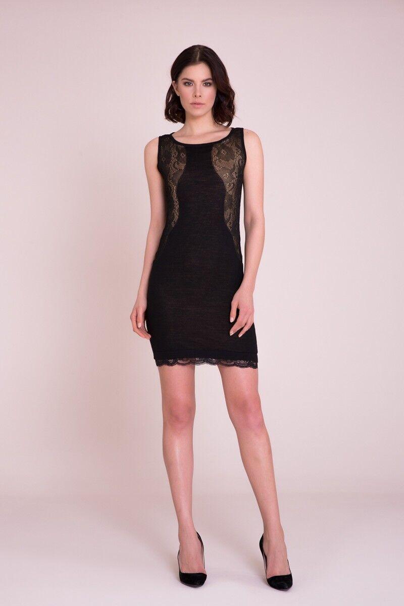 Güpür Detaylı Mini Elbise