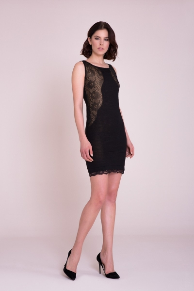 4G GIZIA - Güpür Detaylı Mini Elbise