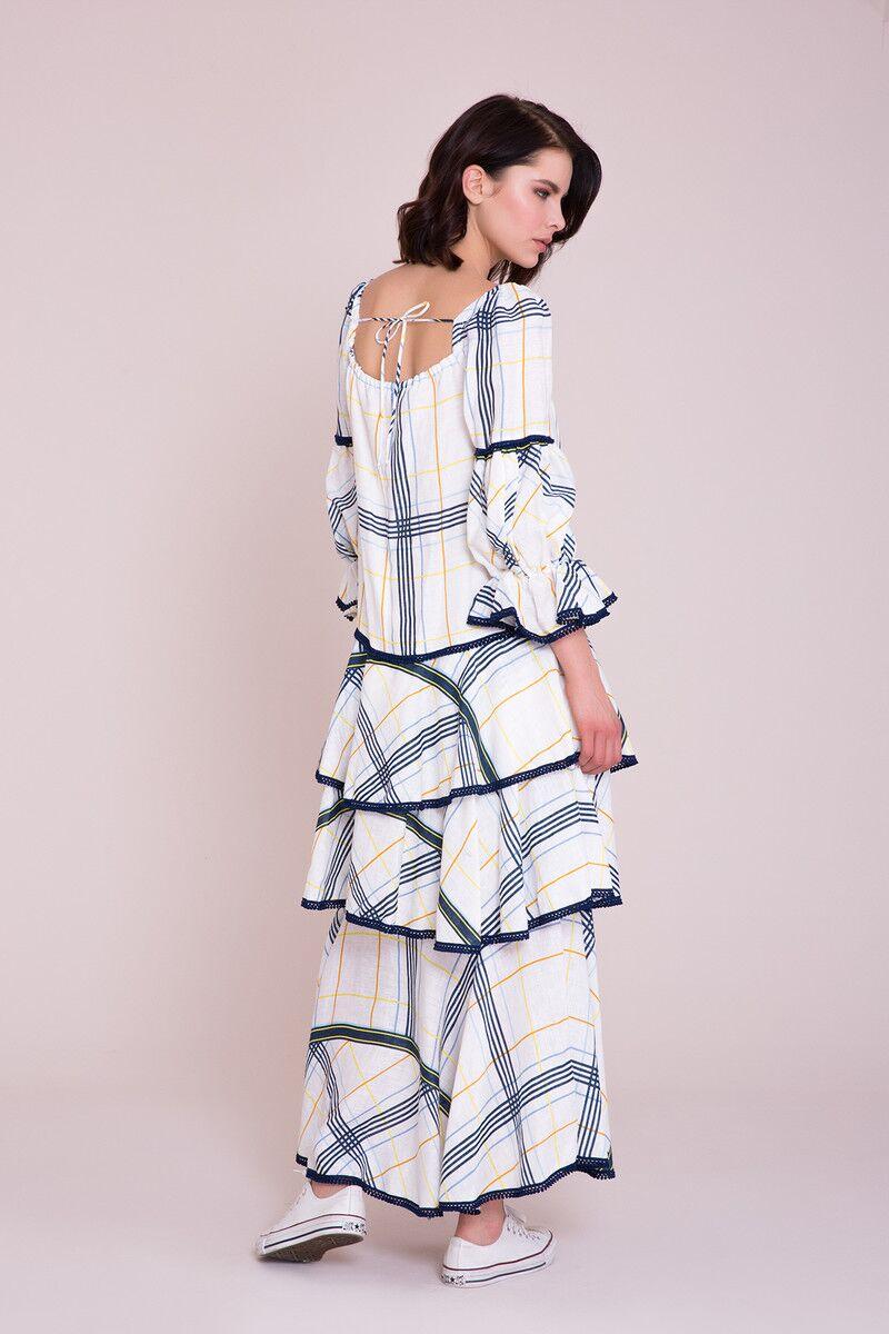 Kare Yaka Maxi Elbise