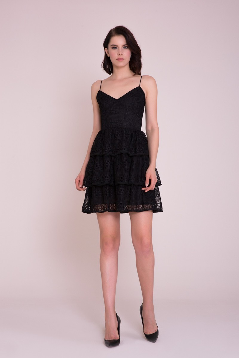a7f521d6312a GIZIA CASUAL - Black Strap Mini Dress