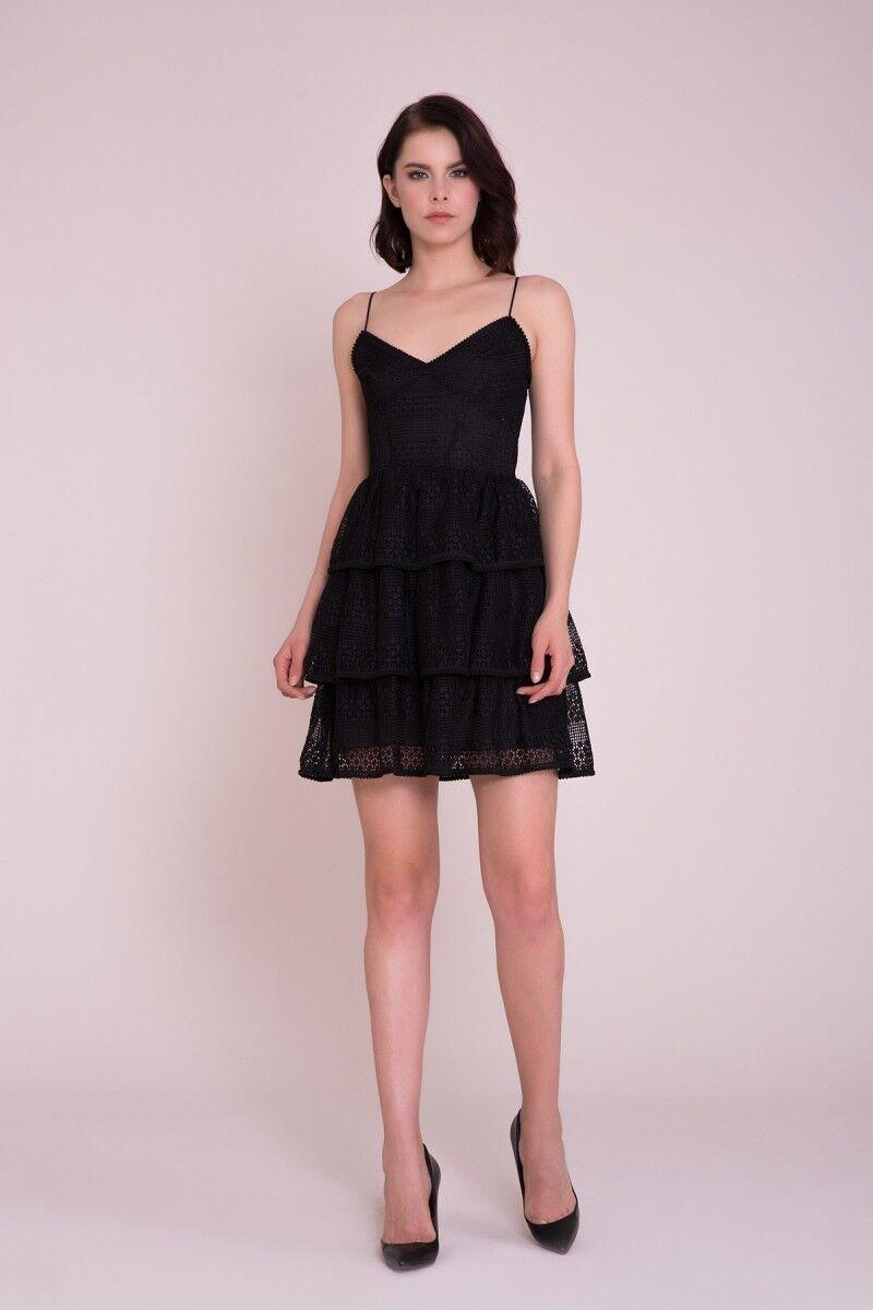GIZIA CASUAL - Siyah Askılı Mini Elbise