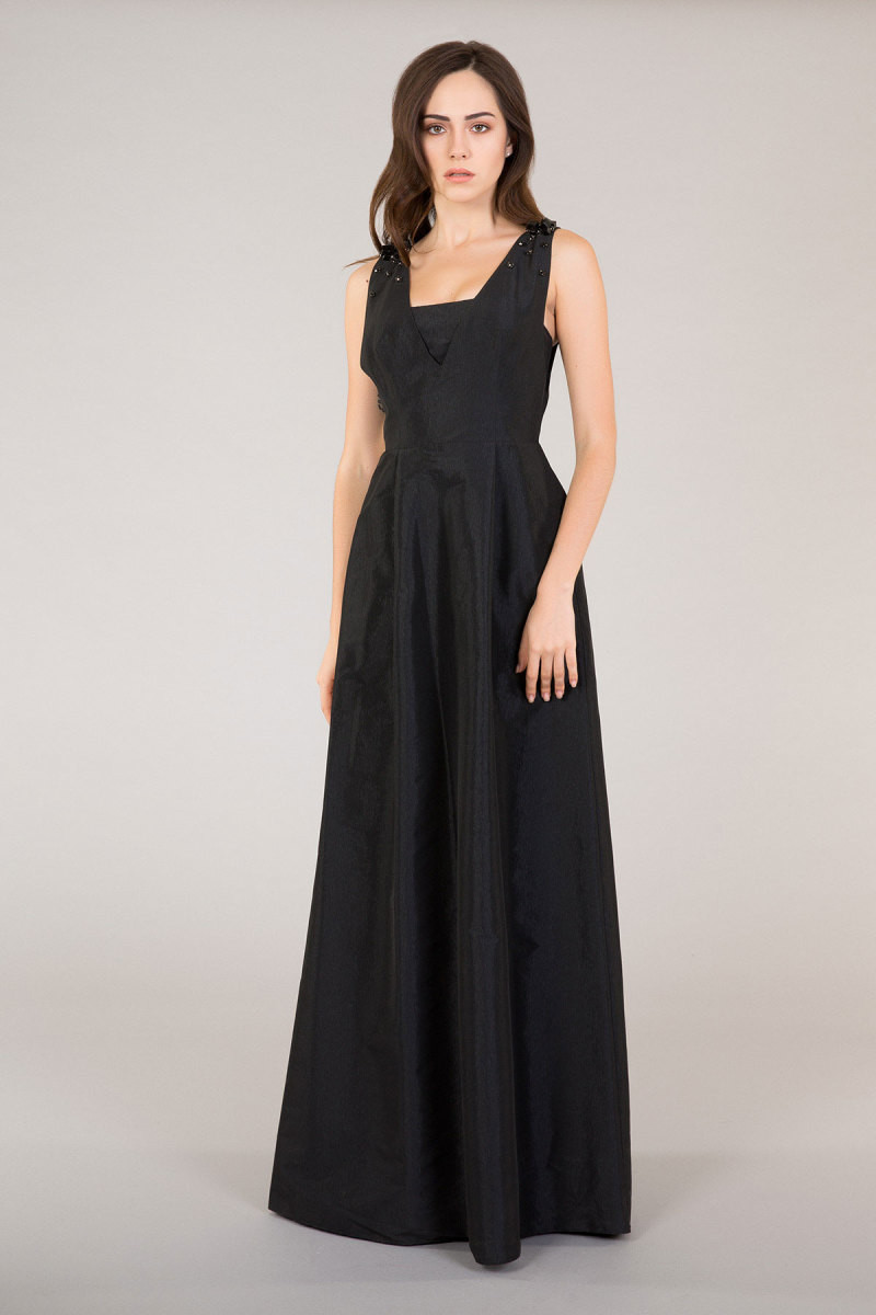 GIZIA CASUAL - With Embellished Strap Dress In Black