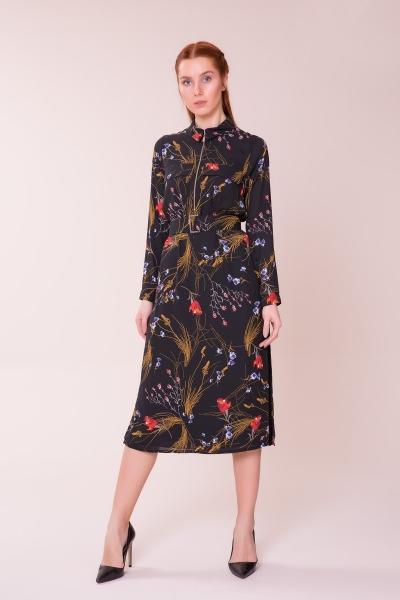 GIZIA CASUAL - Desenli Midi Elbise