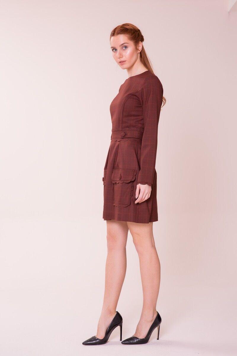 Cep Detaylı Mini Elbise